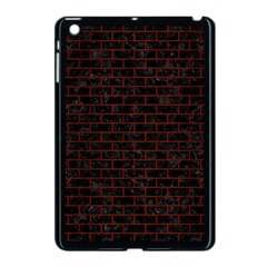 Brick1 Black Marble & Reddish Brown Wood (r) Apple Ipad Mini Case (black) by trendistuff
