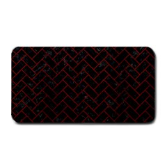 Brick2 Black Marble & Reddish Brown Wood (r) Medium Bar Mats by trendistuff