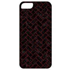 Brick2 Black Marble & Reddish Brown Wood (r) Apple Iphone 5 Classic Hardshell Case by trendistuff