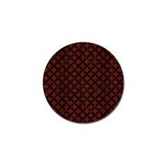 Circles3 Black Marble & Reddish Brown Wood Golf Ball Marker (10 Pack) by trendistuff