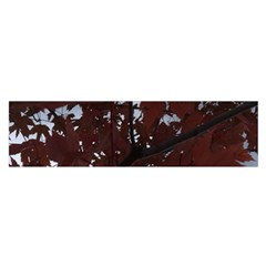 Red Leaves Gray Clouds Satin Scarf (oblong)