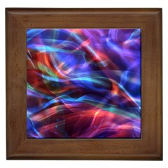 Abstract Shiny Night Lights 2 Framed Tiles