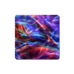 Abstract Shiny Night Lights 2 Square Magnet by tarastyle