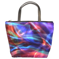 Abstract Shiny Night Lights 2 Bucket Bags by tarastyle