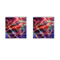 Abstract Shiny Night Lights 4 Cufflinks (square) by tarastyle