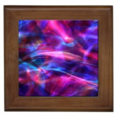 Abstract Shiny Night Lights 5 Framed Tiles by tarastyle