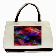 Abstract Shiny Night Lights 7 Basic Tote Bag by tarastyle