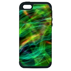 Abstract Shiny Night Lights 8 Apple Iphone 5 Hardshell Case (pc+silicone) by tarastyle