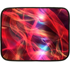 Abstract Shiny Night Lights 9 Double Sided Fleece Blanket (mini)  by tarastyle