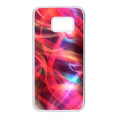 Abstract Shiny Night Lights 9 Samsung Galaxy S7 White Seamless Case by tarastyle