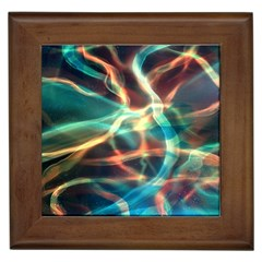 Abstract Shiny Night Lights 11 Framed Tiles by tarastyle