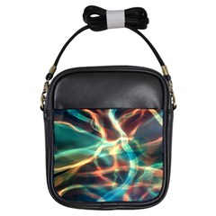 Abstract Shiny Night Lights 11 Girls Sling Bags by tarastyle