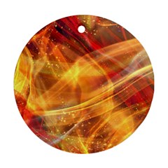 Abstract Shiny Night Lights 13 Ornament (round)