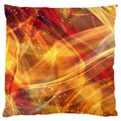 Abstract Shiny Night Lights 13 Large Flano Cushion Case (one Side) by tarastyle