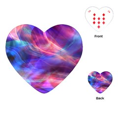 Abstract Shiny Night Lights 14 Playing Cards (heart)  by tarastyle