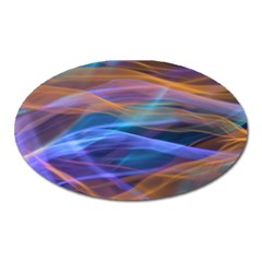 Abstract Shiny Night Lights 16 Oval Magnet by tarastyle