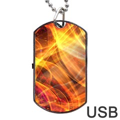 Abstract Shiny Night Lights 17 Dog Tag Usb Flash (two Sides) by tarastyle