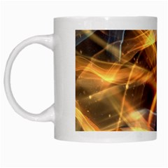 Abstract Shiny Night Lights 19 White Mugs by tarastyle