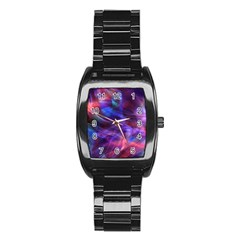Abstract Shiny Night Lights 20 Stainless Steel Barrel Watch by tarastyle