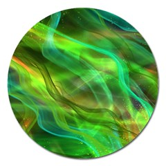 Abstract Shiny Night Lights 21 Magnet 5  (round) by tarastyle