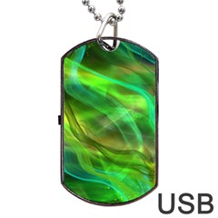 Abstract Shiny Night Lights 21 Dog Tag Usb Flash (one Side) by tarastyle