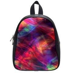 Abstract Shiny Night Lights 23 School Bag (small) by tarastyle