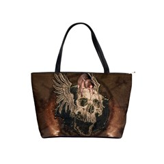 Awesome Creepy Skull With Rat And Wings Shoulder Handbags by FantasyWorld7