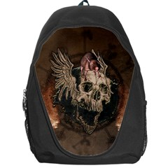 Awesome Creepy Skull With Rat And Wings Backpack Bag by FantasyWorld7