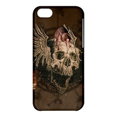 Awesome Creepy Skull With Rat And Wings Apple Iphone 5c Hardshell Case by FantasyWorld7