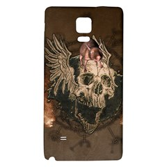 Awesome Creepy Skull With Rat And Wings Galaxy Note 4 Back Case by FantasyWorld7