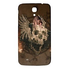 Awesome Creepy Skull With Rat And Wings Samsung Galaxy Mega I9200 Hardshell Back Case by FantasyWorld7