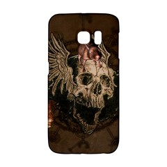 Awesome Creepy Skull With Rat And Wings Galaxy S6 Edge by FantasyWorld7
