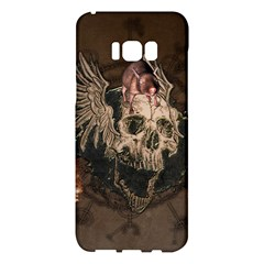 Awesome Creepy Skull With Rat And Wings Samsung Galaxy S8 Plus Hardshell Case