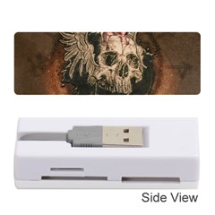 Awesome Creepy Skull With Rat And Wings Memory Card Reader (stick)  by FantasyWorld7
