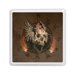Awesome Creepy Skull With Rat And Wings Memory Card Reader (square)  by FantasyWorld7