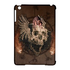 Awesome Creepy Skull With Rat And Wings Apple Ipad Mini Hardshell Case (compatible With Smart Cover) by FantasyWorld7