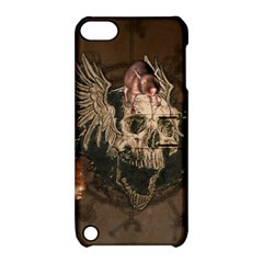Awesome Creepy Skull With Rat And Wings Apple Ipod Touch 5 Hardshell Case With Stand by FantasyWorld7