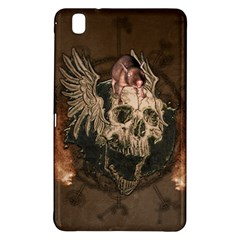 Awesome Creepy Skull With Rat And Wings Samsung Galaxy Tab Pro 8 4 Hardshell Case by FantasyWorld7