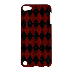 Diamond1 Black Marble & Reddish Brown Wood Apple Ipod Touch 5 Hardshell Case by trendistuff