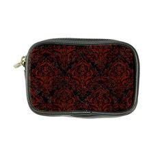 Damask1 Black Marble & Reddish Brown Wood (r) Coin Purse by trendistuff