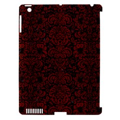Damask2 Black Marble & Reddish Brown Wood (r) Apple Ipad 3/4 Hardshell Case (compatible With Smart Cover) by trendistuff