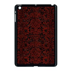 Damask2 Black Marble & Reddish Brown Wood (r) Apple Ipad Mini Case (black) by trendistuff