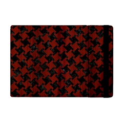 Houndstooth2 Black Marble & Reddish Brown Wood Apple Ipad Mini Flip Case by trendistuff