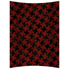 Houndstooth2 Black Marble & Reddish Brown Wood Back Support Cushion by trendistuff
