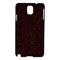 Hexagon1 Black Marble & Reddish Brown Wood (r) Samsung Galaxy Note 3 N9005 Hardshell Case by trendistuff