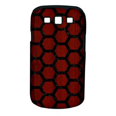Hexagon2 Black Marble & Reddish Brown Wood Samsung Galaxy S Iii Classic Hardshell Case (pc+silicone) by trendistuff