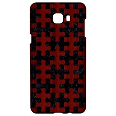 Puzzle1 Black Marble & Reddish Brown Wood Samsung C9 Pro Hardshell Case  by trendistuff