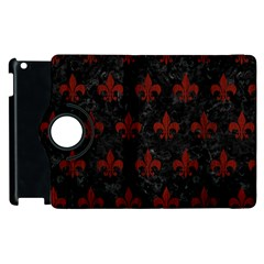Royal1 Black Marble & Reddish Brown Wood Apple Ipad 3/4 Flip 360 Case by trendistuff