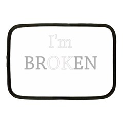 I Am Ok   Broken Netbook Case (medium)