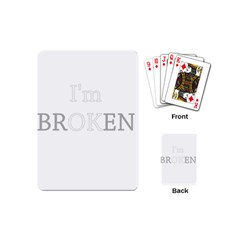 I Am Ok   Broken Playing Cards (mini)  by Valentinaart